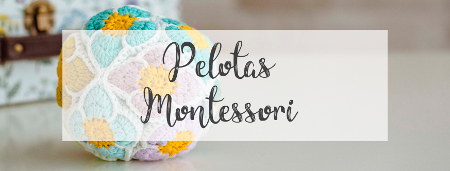 Pelotas Montessori hechas a mano
